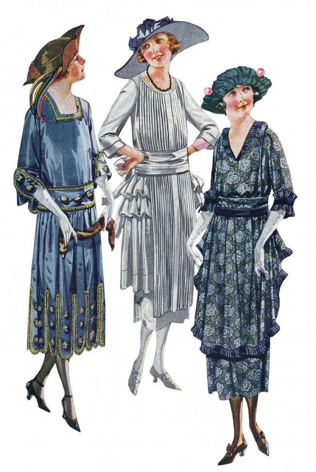 1921 Hip flounces inspired by the Robe de Style