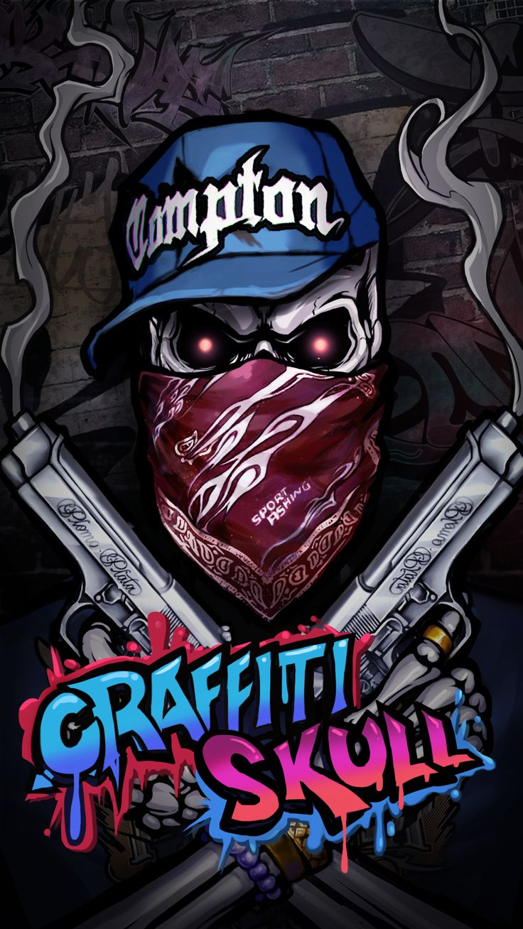 COOL GRAFFITI SKULL WALLPAPER! HIP HOP STYLE! Android