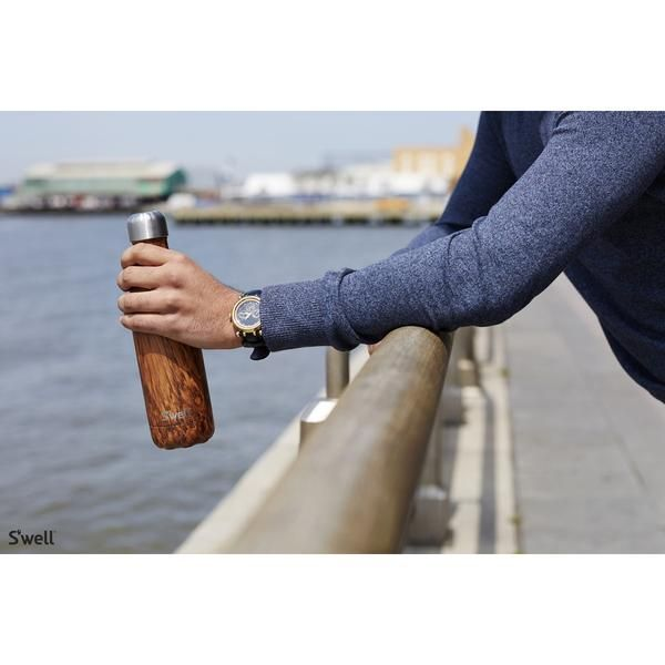 S'Well | Insulated Bottle Wood Collection 500ml - Teakwood