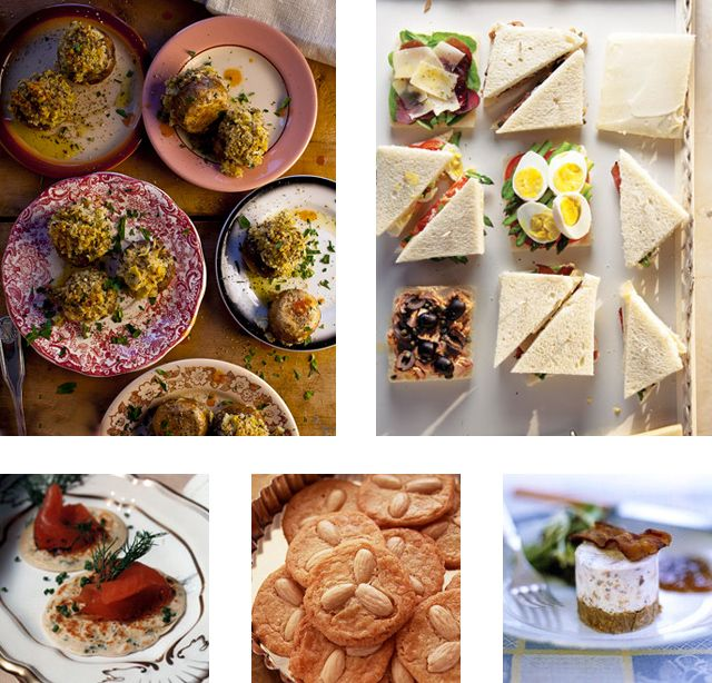 Menu: Mother's Day Tea - With a variety of decadent finger foods, from Venetian tea sandwiches to homemade gravlax with blinis, this spread is perfect to serve for a special Mother's Day treat, either as a late afternoon tea or a Sunday brunch buffet.
