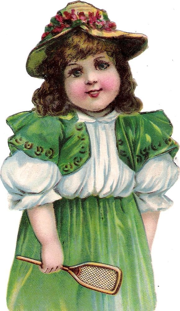Oblaten Glanzbild scrap diecut chromo Kind child 14cm lady girl fille Mädchen: