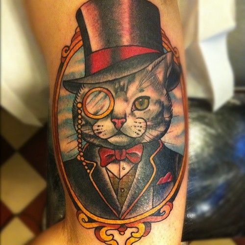 tattoo dog in top hat - Google Search