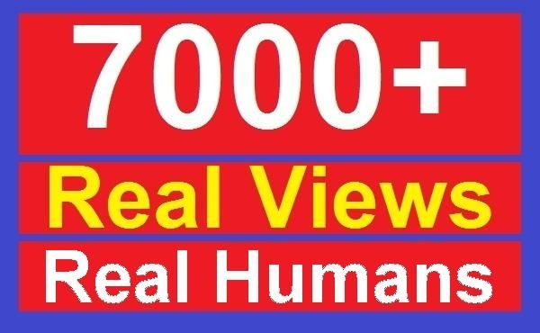 alfiviews: give 7000 Youtube views these are real humans non mobile views for $5, on fiverr.com