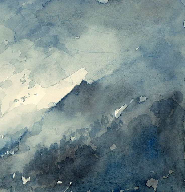 Storm on Mountains Watercolour on Board www.nickhirst.co.uk