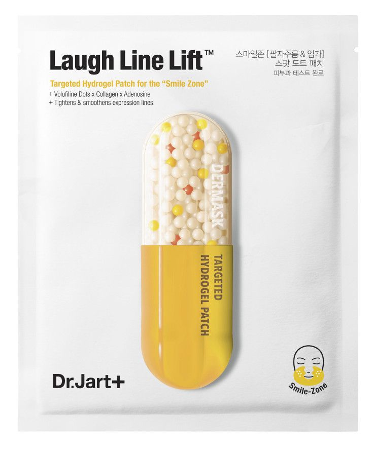 To Smooth Out Smile Lines.Afraid of needles? Thanks to Dr. Jart+'s mix of collagen (for hydration) and volufiline (for elasticity) infused mask, after a 20 minute treatment, you'll notice visibly tighter skin without a single blast of Botox.  Buy It! Dr. Jart+ Dermask Spot Jet Laugh Line Lift, $12 for two, sephora.com