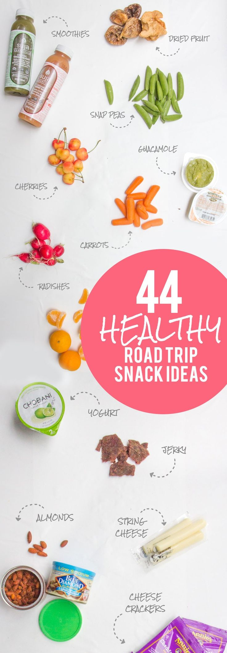 44 Healthy Road Trip Snack Ideas #ad