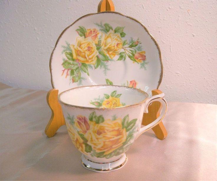 Vintage Royal Albert Rosa Amarilla Taza De Té Taza de Té y Platillo Inglaterra   Cerámica y vidrio, Cerámica y porcelana, Porcelana y cubiertos   eBay!