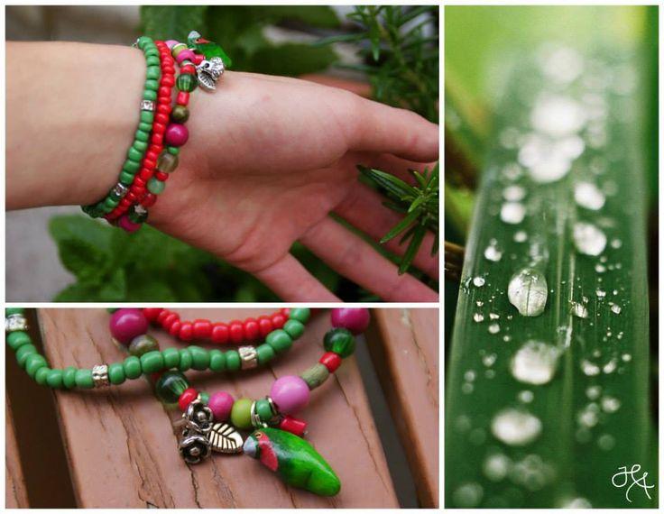 handmade by Hana  ◦ la pioggia estiva ◦ náramok/braccialetto/bracelet https://www.facebook.com/hmbyha?fref=ts