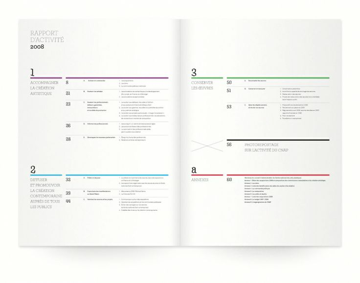 Simple charts, clean typography