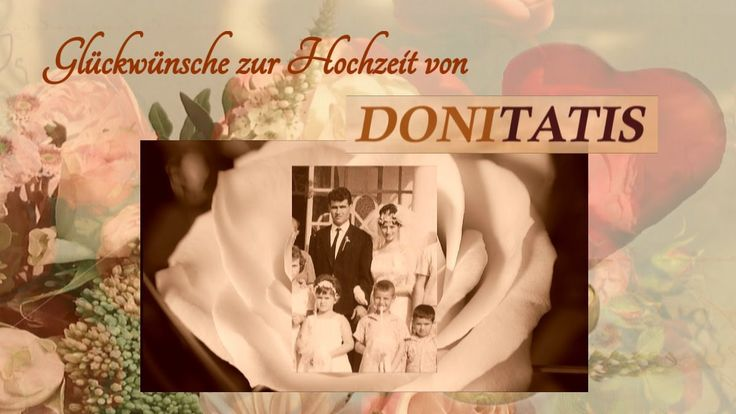 Suchen Sie besondere Gedichte, Verse und Lieder für Ihre Glückwünsche zur Hochzeit? Dann empfehlen wir Ihnen die wundervollen Hochzeitsvideos von Donitatis.