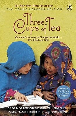 Three Cups of Tea by Greg Mortenson ~The only copy available to me in Korea was the Young Readers Edition in simpler English. I found I was grateful to be reading a book that broke down the complexities of the Muslim world in simpler terms. This story inspired me from several different angles. I couldnt put it down.