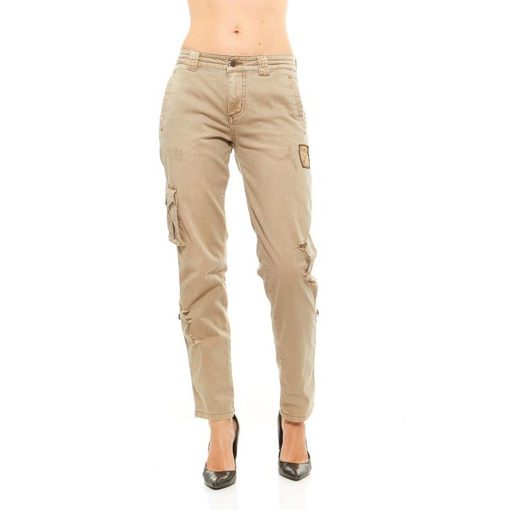 Women's Women Military Army Fatigue Denim Camo Pants ...