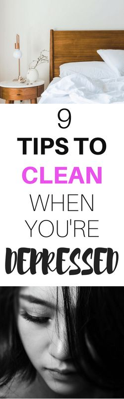 Overcoming depression can be really difficult. Cleaning while you are still looking for remedies to relieve symptoms can be overwhelming. Checkout these motivation tips and tricks for cleaning when you're depressed.