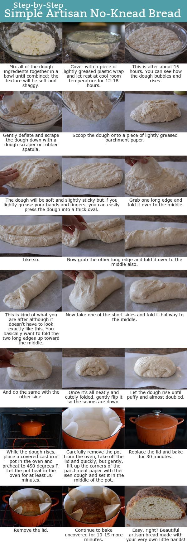 Artisan No-Knead Bread Step-by-Step Tutorial | Mel's Kitchen Cafe