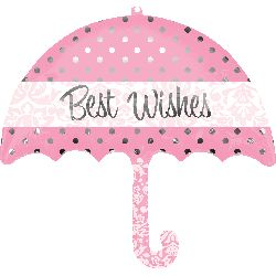 Best Wishes Wedding Umbrella Foil Balloon  - $12.95 See more at http://myhensparty.com.au/