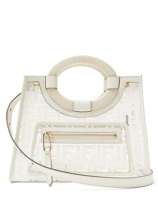 afc5de7b31e Fendi Runaway small leather & PVC shoulder bag | accessorize. bags ...