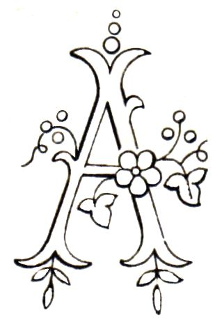 Monogram for Hand Embroidery - the Letter A