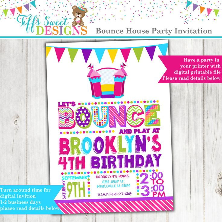 12 best Girl Birthday Party Invitations images on Pinterest ...