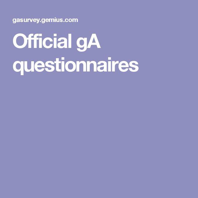 Official gA questionnaires