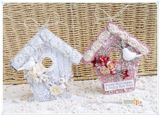 Blog studio75.pl: Ozdoby Świąteczne - Domki / Christmas House Ornaments