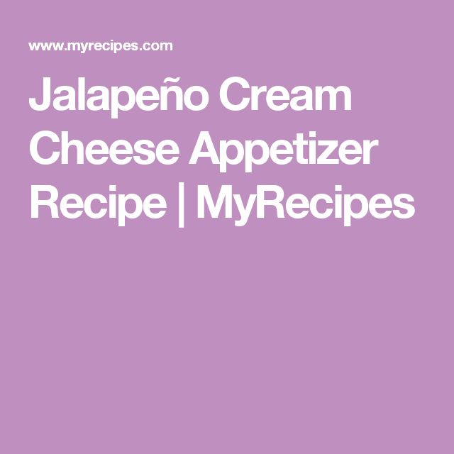 Jalapeño Cream Cheese Appetizer Recipe | MyRecipes