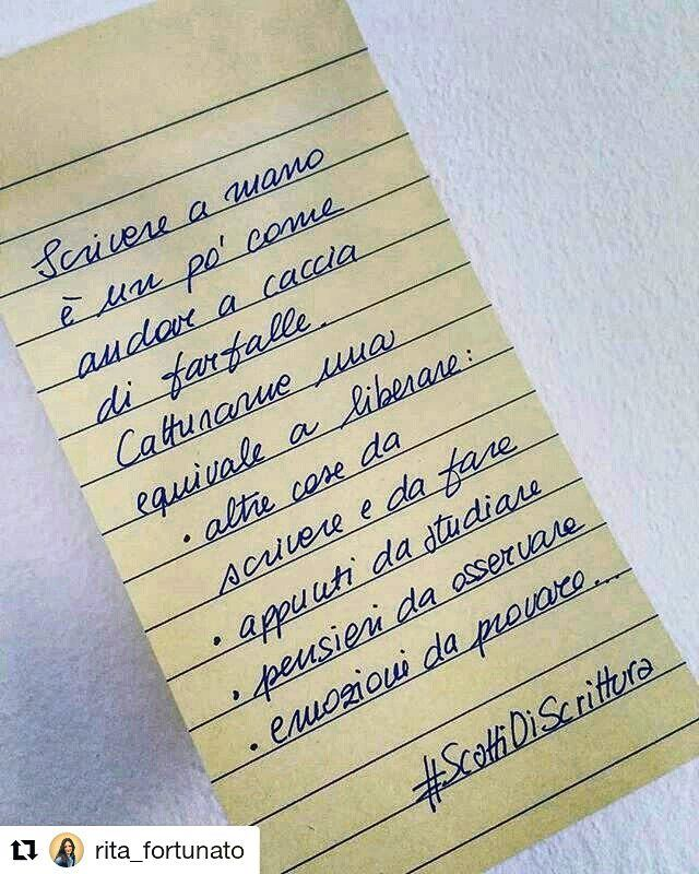 Ecco cosa significa scrivere a mano per @ritafortunato #ScattiDiScrittura  #repost #regram #writing #handwriting #scrittura #pensieri #emozioni #appunti#copywriter #wordsoninstagram #wordsonpaper #bluewords #wordsofthedays #picoftheday #shotoftheday #photooftoday