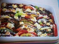 Tian au chèvre (WEIGHT WATCHERS)  1x        Recette de cuisine 4.50/5      recette Tian au chèvre (WEIGHT WATCHERS)  Accompagnement  Difficulté    Ingrédients (4 personnes):    2 courgettes, 1 aubergine, 2 tomates, 1 oignon, 4 cuillères à soupe d'huile d'olive, 5 brins de thym, 120g de chèvre frais allégé, 2 cuillères à soupe de parmesan râpé, 2 brins de basilic, sel et poivre.    Préparation:    - Préchauffer le four à 200° (thermostat 6/7).    - Laver les légumes, les couper en fines…