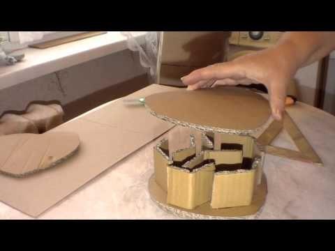 Изготовление картонной формы для плетения из газет. Часть 1.