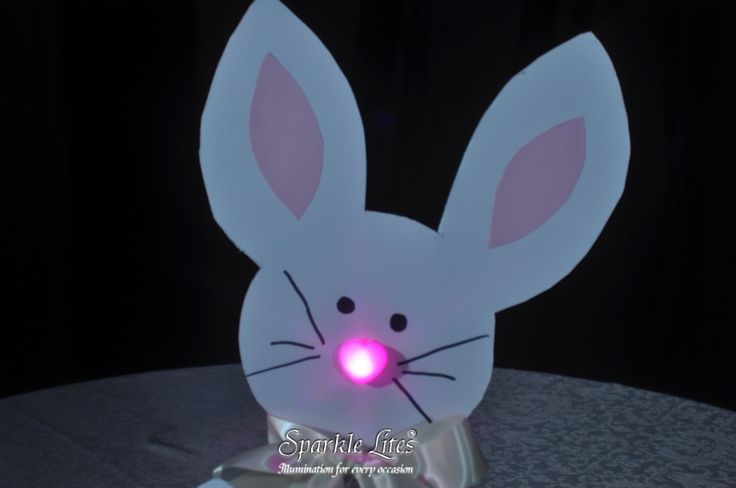 A pink Sparkle Heart makes the perfect cute nose for our Sparkle Easter Bunny
