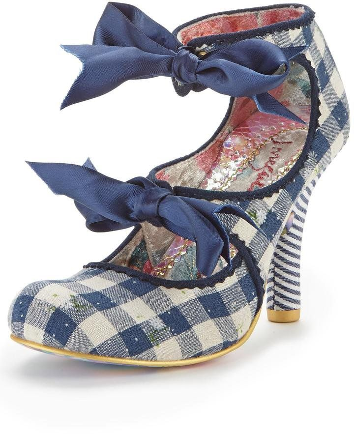 Pin for Later: 24 Pairs of Spring Shoes That Make a Serious Statement  Irregular Choice Heel the World Cut Out Gingham Shoe Boots (£80)