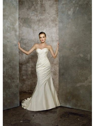 Taffeta Sweetheart Mermaid Wedding Dress