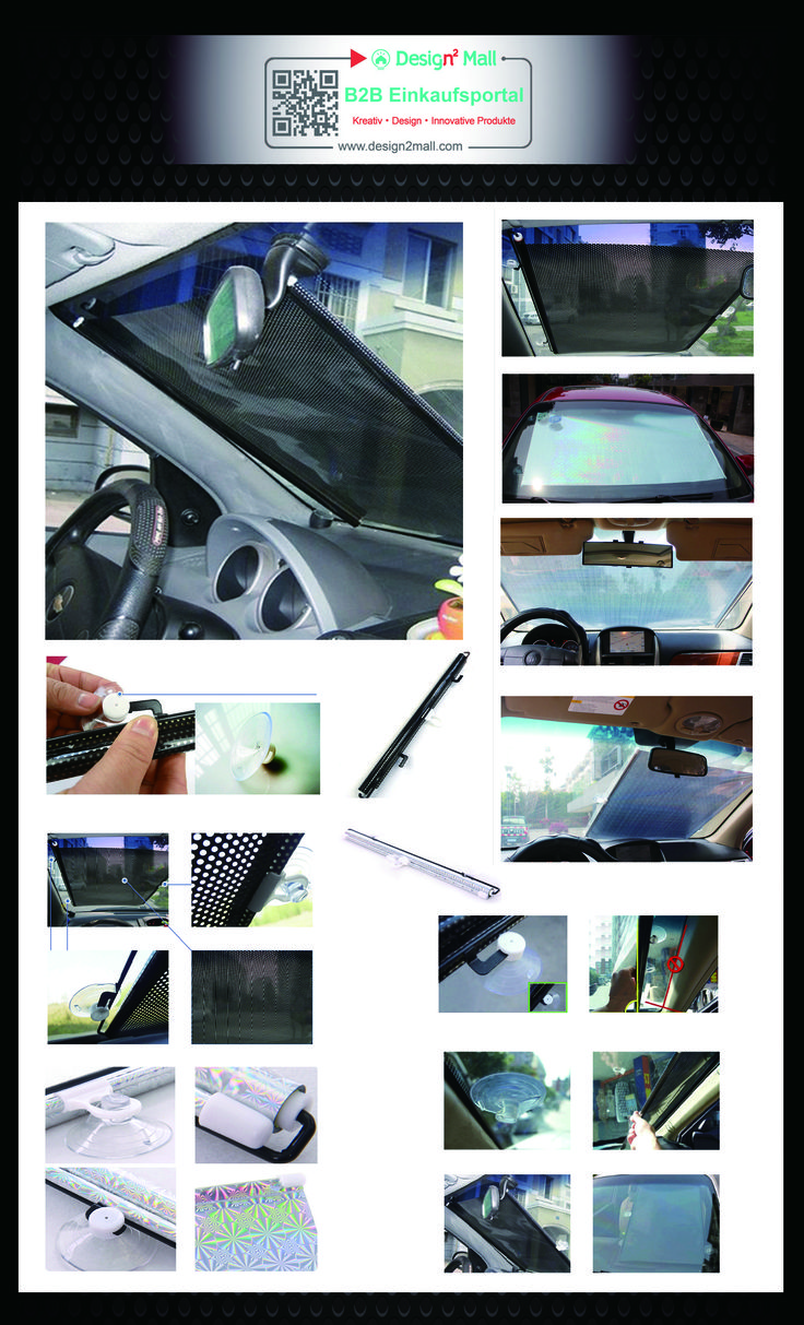 Auto Foldable Front Rear Side Window Sunshade Sun Shade for Car Visor Mesh(search for AUTO-022-en in store) Auto Sonnenrollo Rollo Sonnenschutz Sonnenschutzrollo Fensterrollo Fahrzeug