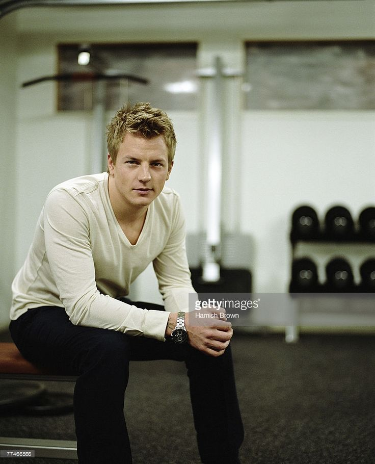 Formula One racing driver Kimi Raikkonen poses for a portrait shoot in London, UK.