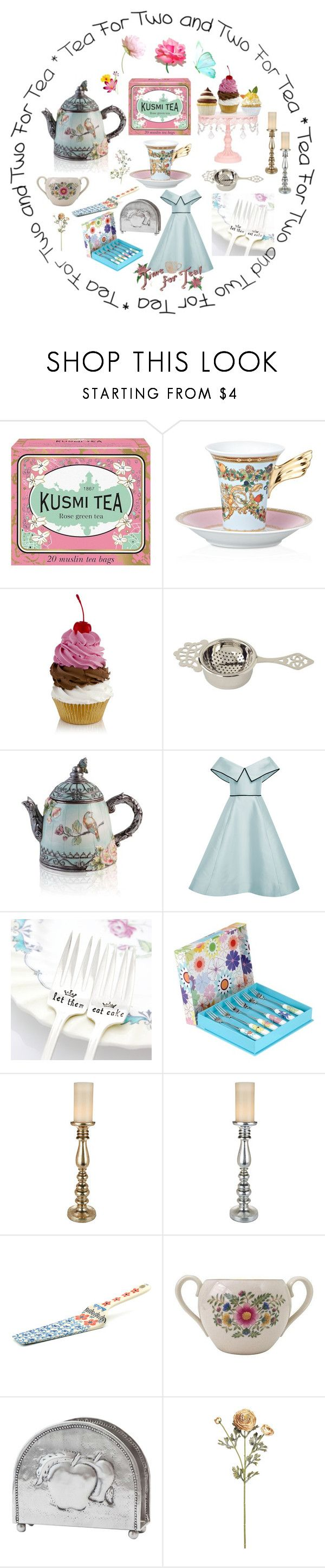 """Tea Time"" by joalustrousjewellery ❤ liked on Polyvore featuring Kusmi Tea, Rosenthal, Elizabeth Kennedy, Milk + Honey, Portmeirion, Bunzlau Castle, Lenox and Old Dutch"