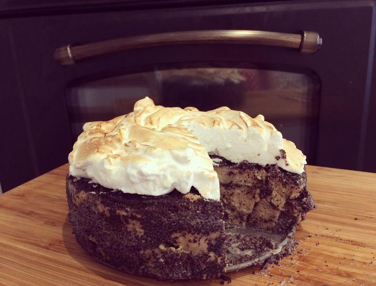 Mákosguba torta; gluténmentes, tejmentes, cukormentes