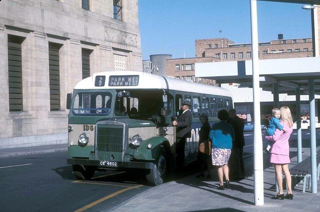 Leyland OB-4602 (fleet No 136) in Hoffman Square, Bloemfontein, Orange Free State, South Africa. by express000, via Flickr