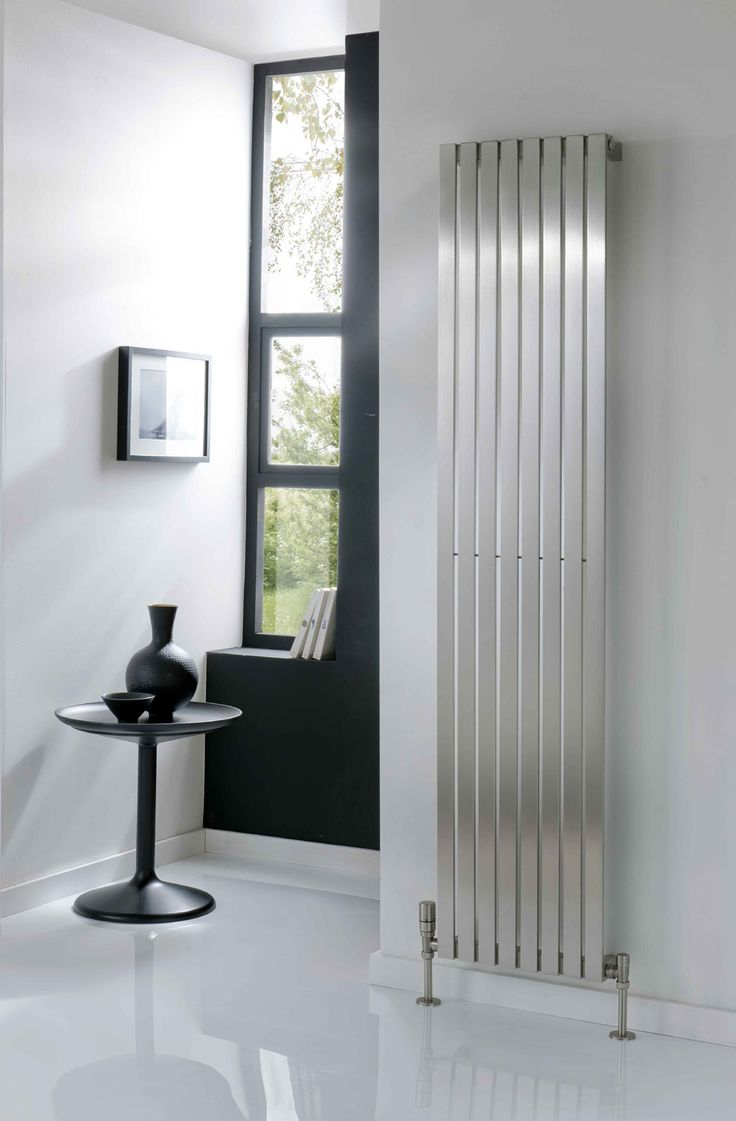 The Radiator Company Ceres is a slim profile radiator that appears to float off the wall. This radiator is hand produced and made from 304 grade Stainless steel which is highly corrosion resistant, suitable for both direct and indirect systems. Available in a brushed finish and 6 sizes. Free stainless steel cleaning glove included. Complete with a 20 year guarantee.  Prices from £437.76