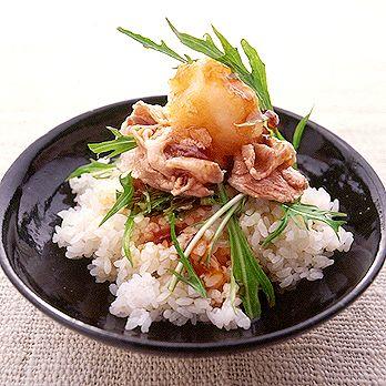 さっぱり豚しゃぶ丼 | 井澤由美子さんのどんぶりの料理レシピ | プロの簡単料理レシピはレタスクラブニュース