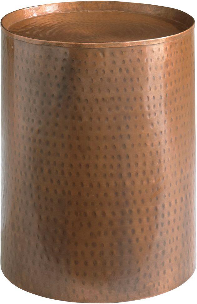 HGTV Home 6W14 H641 Accents Round Antique Copper Pedestal