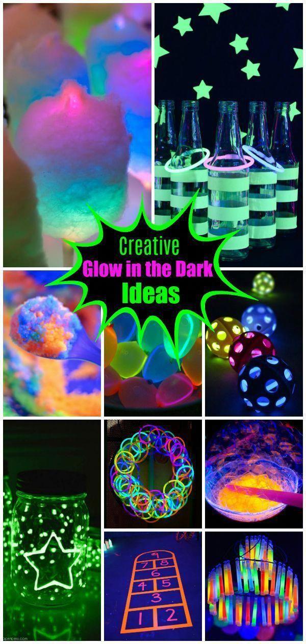 Glow Stick Kids Party Glowstickideasforkids In 2020 Glow Birthday Party Diy Kids Party Decorations