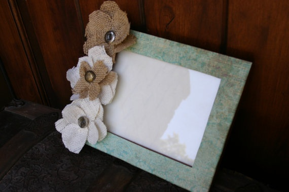 Burlap Picture Frame   Upcycled by CharlisBoutique on Etsy, $12.00