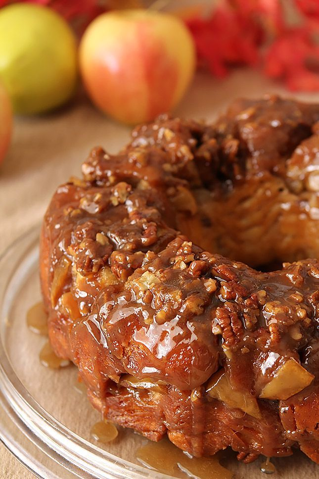 Caramel Apple Monkey Bread - perfect fall dessert.