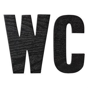 "Trebokstaver fra Bloomingville - ""WC"""