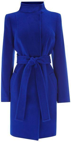 COAST - Blue 'Alissa' Coat - $182.00 - http://www.lyst.com/clothing/coast-alissa-coat-blue-1/?ctx=196847