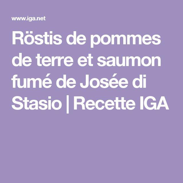 Röstis de pommes de terre et saumon fumé de Josée di Stasio | Recette IGA