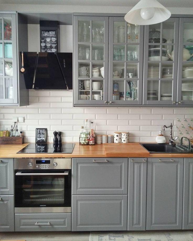 31 best Cuisine Gilles images on Pinterest Kitchens, Cooking food - hauteur entre meuble bas et haut cuisine