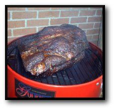 Beef Brisket Smoking in a Brinkmann Gourmet Electric Smoker With Hickory Chips