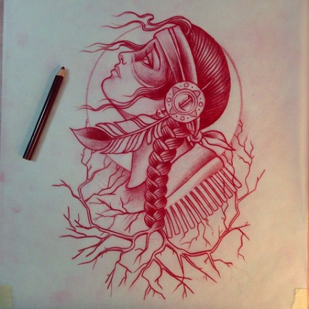 1000 ideas about indian girl tattoos on pinterest indian tattoos girl tattoos and tattoos - Dessin tatouage femme ...