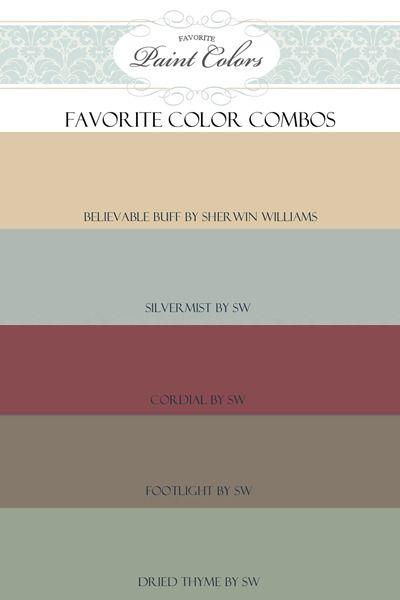 Favorite Paint Colors- combination for Believable Buff