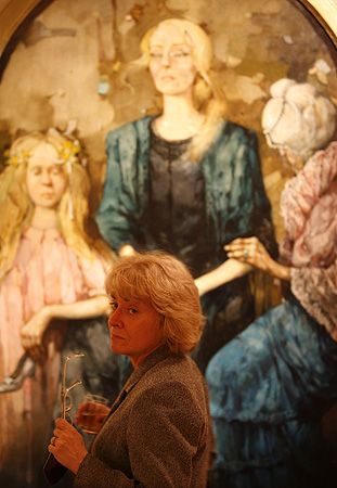 """strona 9 z galerii """"Gęby"""" Dudy-Gracza.  W Muzeum Historii Katowic otwarta została wystawa portretów Jerzego Dudy-Gracza """"Gęby"""". Na ekspozycję składa się 60 portretów i autoportretów artysty."""